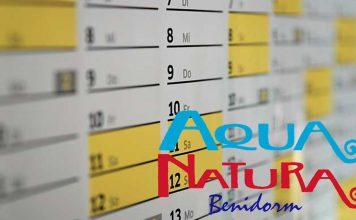 horarios y calendario aqua natura benidorm