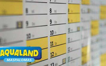 horarios y calendario aqualand maspalomas