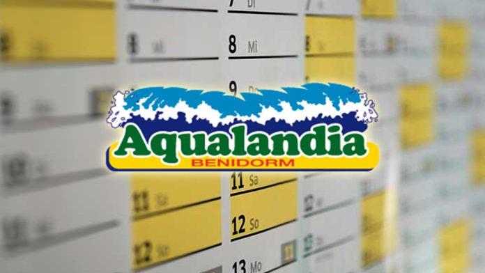 horarios y calendario aqualandia benidorm