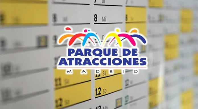 horarios y calendario parque de atracciones madrid
