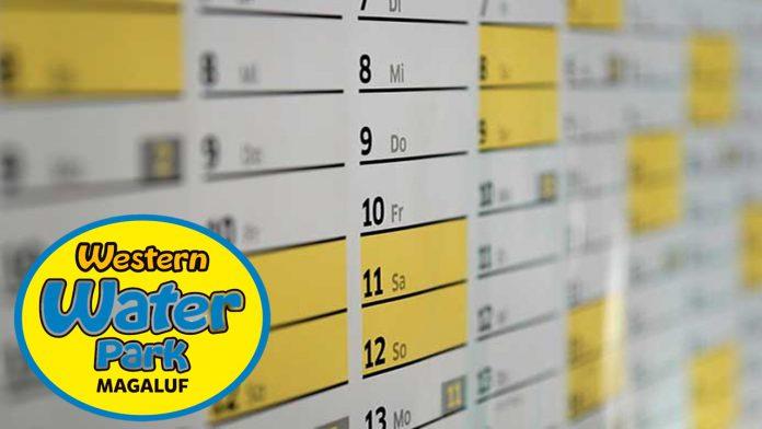 horarios y calendario western park